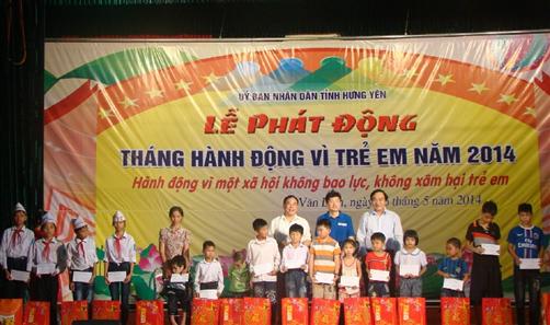 Hưng Yên: 100% trẻ em có hoàn cảnh đặc biệt được tặng quà