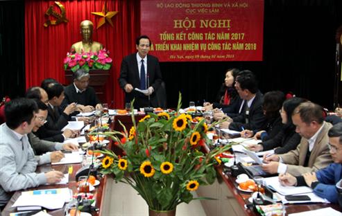 Cục Việc làm tổ chức Hội nghị tổng kết công tác năm 2017 và triển khai nhiệm vụ năm 2018