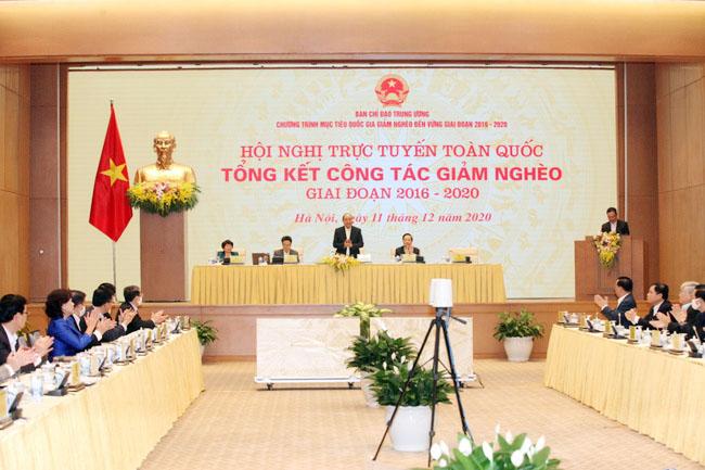 Thủ tướng chủ trì Hội nghị tổng kết công tác giảm nghèo giai đoạn 2016-2020